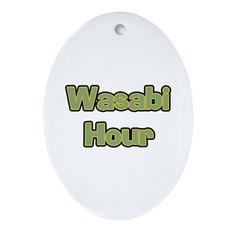 Wasabi Hour Oval Ornament