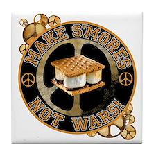 Make Smores Not Wars Tile Coaster