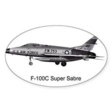 F-100 Super Sabre Oval Decal