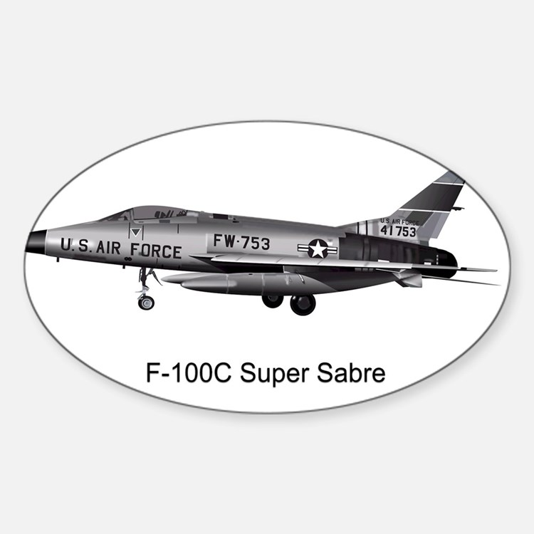 F-100 Super Sabre Oval Decal