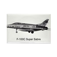 F-100 Super Sabre Rectangle Magnet