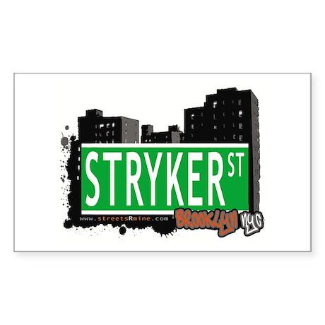STRYKER ST, BROOKLYN, NYC Rectangle Sticker
