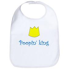 POOPIN' KING Bib