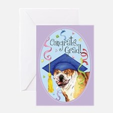 Bulldog Graduate Greeting Card