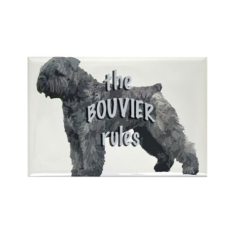 bouvier rules Rectangle Magnet