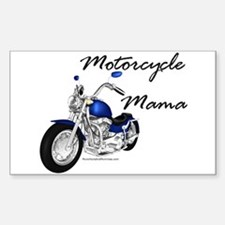Motorcycle Mama Rectangle Decal
