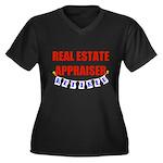 Retired Real Estate Appraiser Women's Plus Size V-
