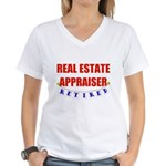Retired Real Estate Appraiser Women's V-Neck T-Shi