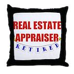 Retired Real Estate Appraiser Throw Pillow