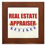 Retired Real Estate Appraiser Framed Tile