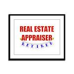 Retired Real Estate Appraiser Framed Panel Print