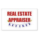 Retired Real Estate Appraiser Rectangle Sticker 5