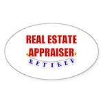Retired Real Estate Appraiser Oval Sticker (50 pk)