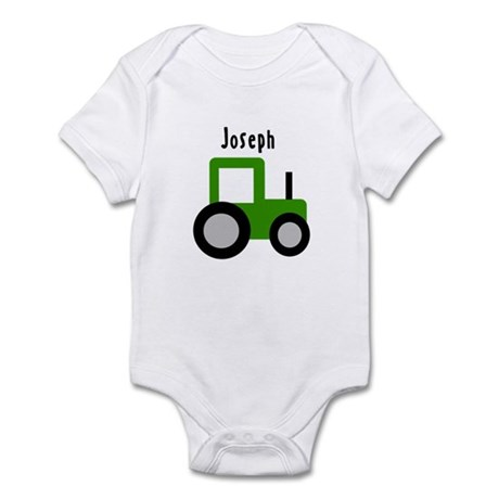 Joseph - Green Tractor Infant Bodysuit