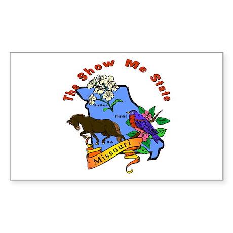 """Missouri Pride"" Rectangle Sticker"
