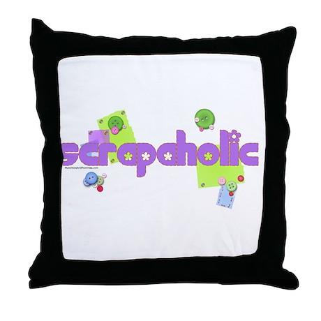 Scrapaholic Throw Pillow