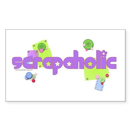 Scrapaholic Rectangle Sticker