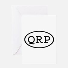 QRP Oval Greeting Card