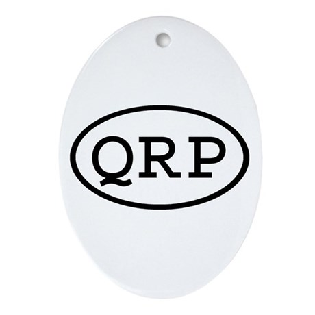 QRP Oval Oval Ornament