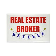 Retired Real Estate Broker Rectangle Magnet (10 pa
