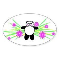 Pretty Panda Oval Decal