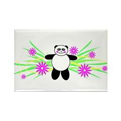 Pretty Panda Rectangle Magnet (10 pack)