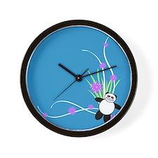 Pretty Panda Wall Clock