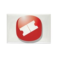 Movie Concert Ticket Rectangle Magnet (100 pack)