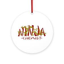 Dragon Ninja Chemist Ornament (Round)