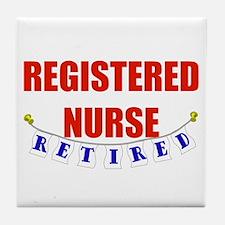 Retired Registered Nurse Tile Coaster