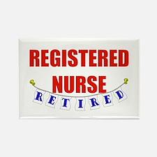 Retired Registered Nurse Rectangle Magnet