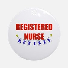 Retired Registered Nurse Ornament (Round)