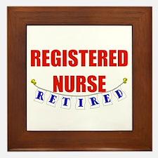 Retired Registered Nurse Framed Tile