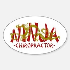Deadly Ninja Chiropractor Oval Decal