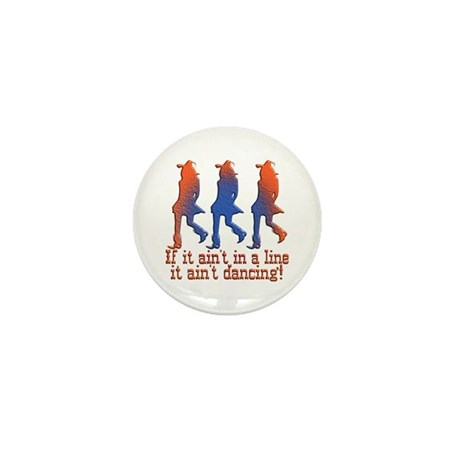 Line Dancing Mini Button (10 pack)