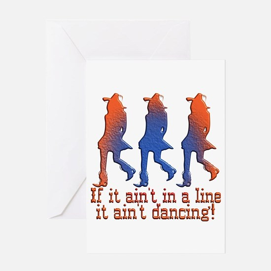 Line Dancing Greeting Card