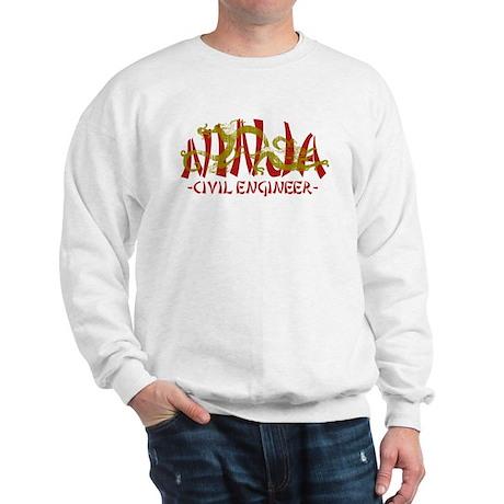Dragon Ninja Civil Engineer Sweatshirt