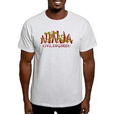 Dragon Ninja Civil Engineer T-Shirt