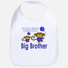 This Little Monkey Big Brothe Bib