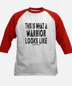 This is What a WARRIOR Looks Kids Baseball Jersey