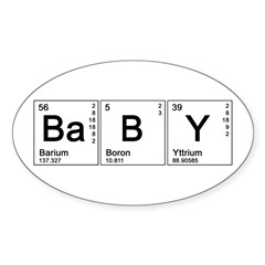 Periodic Baby Oval Sticker (10 pk)