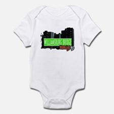 WILLIAMSBURG BRIDGE, BROOKLYN, NYC Infant Bodysuit