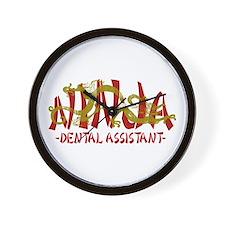 Dragon Ninja Dental Asst Wall Clock