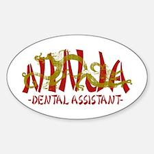 Dragon Ninja Dental Asst Oval Decal