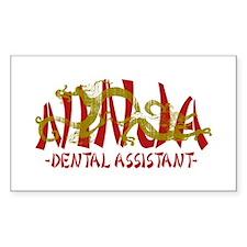 Dragon Ninja Dental Asst Rectangle Decal