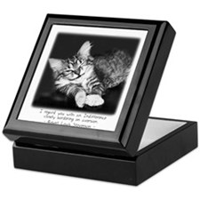 Indifferent Cat Keepsake Box
