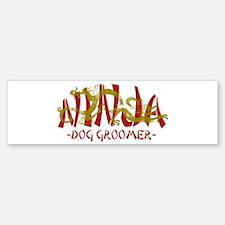 Dragon Ninja Dog Groomer Bumper Bumper Bumper Sticker