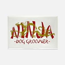 Dragon Ninja Dog Groomer Rectangle Magnet