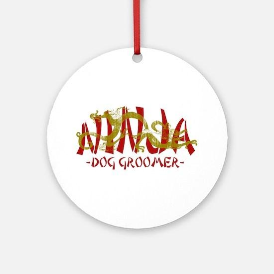 Dragon Ninja Dog Groomer Ornament (Round)