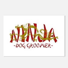 Dragon Ninja Dog Groomer Postcards (Package of 8)